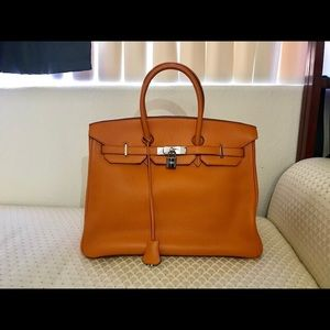Hermès orange Birkin bag